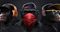 Dope Cartoon Art, Dope Cartoons, Cartoon Kunst, Monkey Wallpaper, Lion Wallpaper, Graffiti Wallpaper, Three Wise Monkeys, Monkey Art, Monkey Drawing