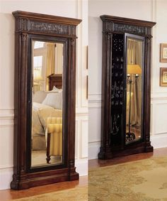 Hooker Furniture Seven Seas Floor Mirror With Jewelry Armoire!
