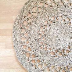 Alfombra de Yute Calado Rattan, Wicker, Diy Crafts For Home Decor, Jute Crafts, Jute Rug, Diy Crochet, Crochet Projects, Weaving, Wall Decor