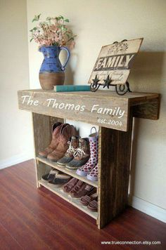 I love this! Can be made from recycled wood via Pinterest from trueconnection.etsy.com
