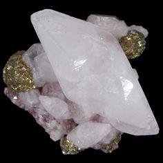Hematite included dogtooth Calcite & Pyrite, Kalahari Manganese Fields, SA (M094