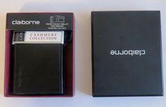 Men Front pocket wallet with magnetic money clip Claiborne black valentine gift #Claiborne #Bifold