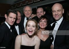 Actors Matt Smith, Jared Harris, John Lithgow, Claire Foy, Harry Hadden-Paton, Victoria Hamilton and Pip Torrens attend The Weinstein Company & Netflix's 2017 SAG After Party in partnership with Absolut Elyx at Sunset Tower Hotel on January 29, 2017 in West Hollywood, California.
