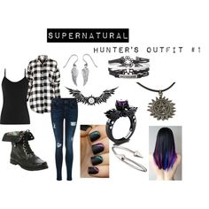 Supernatural: Hunter's Outfit #1 by wretchedanddivine22 on Polyvore featuring Reiss, Jules Smith, Palm Beach Jewelry, outfit, supernatural and hunter