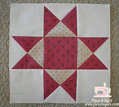 Piece N Quilt: Block of the Month {Aunt Eliza's Star} Month 3