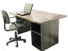 Rustic Office Desk Home Design Inspiration, Decor, Pictures and Remodel Rustic Shelves, Decor, Furniture, Rustic Office, Home Office Furniture, Rustic Living Room, Rustic Desk, Office Desk Decor, Rustic Office Desk