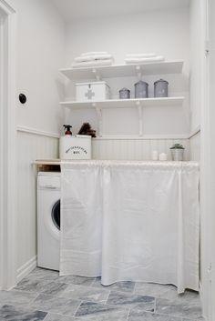 lavandería decoración distribución ático decoración nordica con muchos textiles decoración mix texturas decoración interiorismo atico nordic...