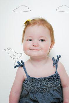 little bird on a shoulder