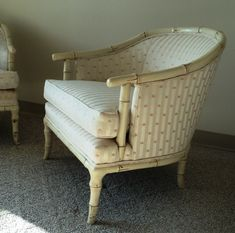 Pair of Hollywood Regency Faux Bamboo Club Chairs