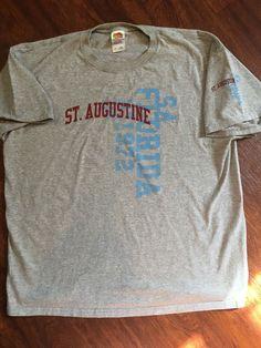 1972 St Augustine Florida Gray T-Shirt Size XL  #FruitoftheLoom #GraphicTee