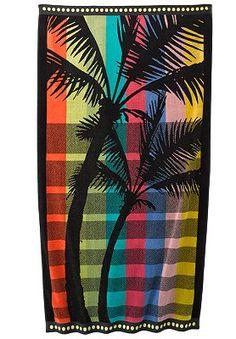 Sonoma Goods For Life Rainbow Palm Beach Towel Beach Towel