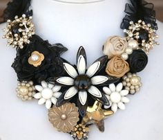 TUTORIAL - Learn How To Create the Original Vintage Statement Bib Necklace- No Sewing Required