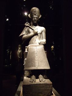 Statue of Pharaoh Ramesses II, also called Ramses the Great. On display at Museo Egizio di Torino (Italy)