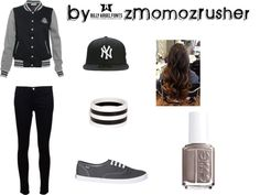 """""""Gris"""" by zmomozrusher ❤ liked on Polyvore"""