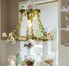 for sewing room !!! lampshade chandelier