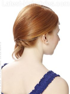 Copper Glow Long Style with Accessory Back View It's hard for any stylist to agree to change out a natural redheads color, but adding a golden ombre' is a different story! Whether you are naturally copper or carry it well, a soft transition into light gold brightens your skin tone and looks amazing.