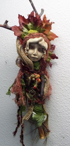 Tara Moon Goddess OOAK assemblage art doll by awesomeart on Etsy,