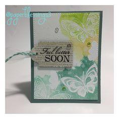 Feel better soon card. @paperblessings3 #paperblessings3