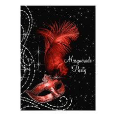 Shopping Elegant Black and Red Masquerade Party 5x7 Paper Invitation Card We have the best promotion for you and if you are interested in the related item or need more information reviews from the x customer who are own of them before please follow the link to see fully reviews
