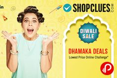 Shopclues #DiwaliSale brings #Dhamaka #Deals. It's raining #exclusivedeals and offers on #ShopCluesDiwaliSale! Bag the best deals on latest fashion, home, electronics, and much more. #ItneKumMein  http://www.paisebachaoindia.com/diwali-sale-dhamaka-deals-lowest-price-online-challenge-shopclues/