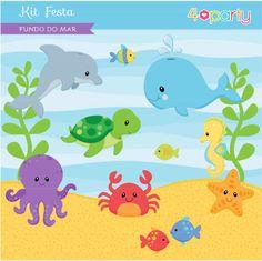 Kit Fundo do Mar www.cogumellow.com.br www.4party.com.br