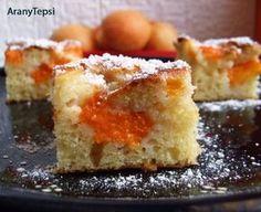 Sárgabarackos sütemény  joghurtos tésztából