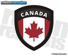 Canada Flag Canadian Shield Badge Sticker Decal Ferrari Logo, Vinyl Art, Adhesive Vinyl, Things To Buy, Decals, Flag, Canada, Stickers, Badges