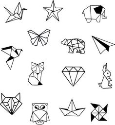 Geometrische Tier Diamond Shapes Knöchel Handgelenk temporäre Tätowierung - Knöchel Tattoo - Party Tattoo to make temporary tattoo crafts ink tattoo tattoo diy tattoo stickers Origami Tattoo, Diy Tattoo, Tattoo P, Tattoo Style, Tattoo Ideas, Temporary Tattoos, Small Tattoos, Cool Tattoos, Awesome Tattoos