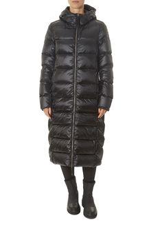'Leah' Black Long Down Puffer Coat | Jessimara