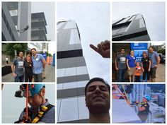 """Some of our own #TrueBlue Freeman employees go """"Over the Edge"""" for Make-A-Wish Central  South Texas! #AustinOTE  To learn more about this great event, please visit www.austinovertheedge.com! #FreemanCo"""
