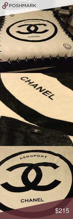 💥NEW RELEASE 💥 Chanel Aeroport VIP Throw NEW 2017 Release. Chanel AEROPORT Soft Blanket. Measures approx 6.5L X 5 W FEET. Absolutely stunning! Price Firm since it's just released! CHANEL Makeup Face Primer