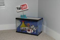 """""""YouTank""""   YouTank is a show-and-tell activity in which each child gets to display items or photographs that give the class a glimpse into his/her life and personality.  The child is in the YouTank for one week over the course of the year.  At the end of his/her week, 10-15 minutes is designated for the child to tell about the items, and explain how they show about their lives."""