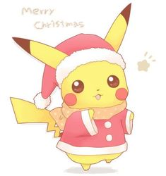 We Wish You a Merry Christmas Pikachu