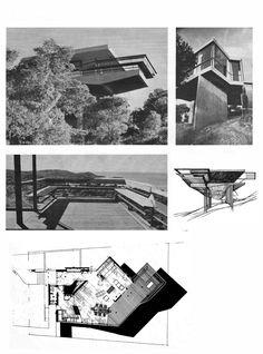 Takis H. Zenetos, residence in Kavouri, 1960 - Takis H. Zenetos, residence in Kavouri, 1960 - Conceptual Model Architecture, Interior Architecture, Concept Diagram, Mid Century Style, Modern Buildings, Exterior, World, House, Athens Greece