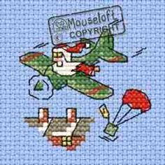 Santa's Airdrop Cross Stitch Kit: Cross stitch (Mouseloft, 014-J32stl)