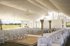 Ceremony tent for outdoor wedding - Special Events Alaska