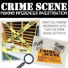 This past Friday, my team decided to create a crime scene to help our students master the skill of making inferences! 5th Grade Writing, 6th Grade Ela, Teaching 5th Grade, 5th Grade Reading, Fourth Grade, Third Grade, Inference Activities, Reading Strategies, Comprehension Strategies