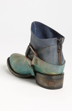 Normally stay away from pseudo western boot but I adore the fade in and out of grey/greeny blues on this ankle boot.
