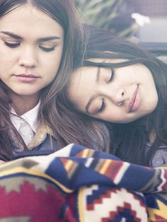 Find friends and family to lean on, and conquer life's hardest moments together. // Cierra Ramirez and Maia Mitchell are Mariana and Callie in The Fosters.
