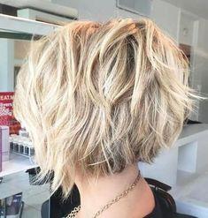 Bob à poils blonds pour cheveux épais