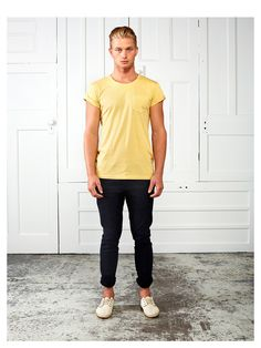White Rooms, Yellow Tee, Casual Outfit, Stretch Chinos, Navy, Spring, Men's Fashion, Mens Style, Autonomy, Spring, Melbourne