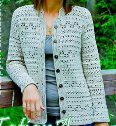 cardigans crochet cardigan / order -Ladies cardigans crochet cardigan / order - Ravelry: Kamila Fitted Cardigan pattern by Ling Ryan ♥´¨) ¸. Pull Crochet, Gilet Crochet, Mode Crochet, Crochet Cardigan Pattern, Crochet Jacket, Crochet Blouse, Crochet Stitches, Knit Crochet, Double Crochet