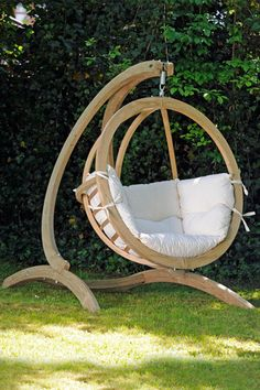 Hanging Chair Wood Acapulco Kmart 14 Best Wooden Swing Round Images Sets Bench Globo Hammock Stand