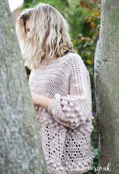 Crochet: Diamonds and Bobbles Jumper