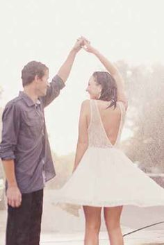 Bucket list. Dancing in the rain with the one you love. On my wedding day would be unbelievable!!