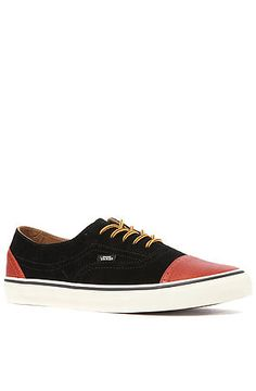VANS the Era Brogue CA....This low-top sneaker perfectly combines style with class.The combo of suede & leather is A1. These will go great with anything and are a perfect addition. IMHO