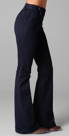 Shopping List ⫸ High-waisted Wide-Leg J Brand Stella High Rise Pants in Marine. | $179.90