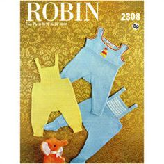 New Listing Started Robin - baby's pullups (feet optional) 3 designs Knitting Pattern 2308 £0.70