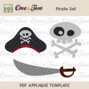 Pirate Set Applique Template