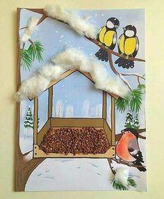 افكار مدرسية طريقة صنع رسومات فصل الشتاء بالقطن اشغال يدوية للاطفال Handmade Kids Winter Crafts For Kids Preschool Art Activities Paper Crafts Diy Kids